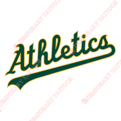 Oakland Athletics Customize Temporary Tattoos Stickers NO.1794