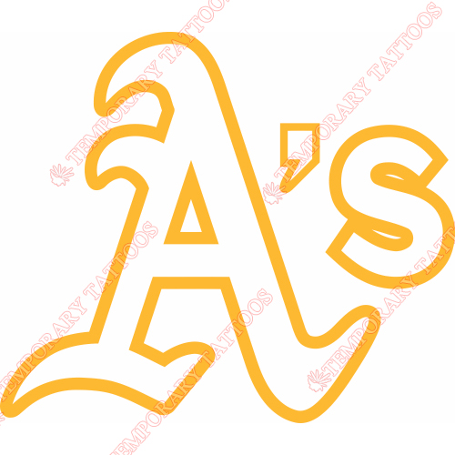 Oakland Athletics Customize Temporary Tattoos Stickers NO.1799