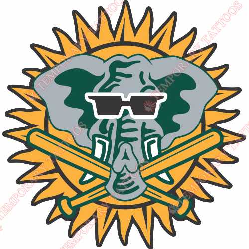 Oakland Athletics Customize Temporary Tattoos Stickers NO.1801