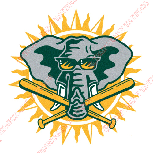 Oakland Athletics Customize Temporary Tattoos Stickers NO.1806