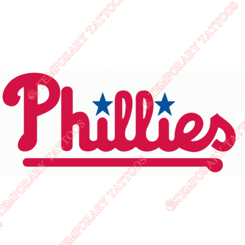 Philadelphia Phillies Customize Temporary Tattoos Stickers NO.1820