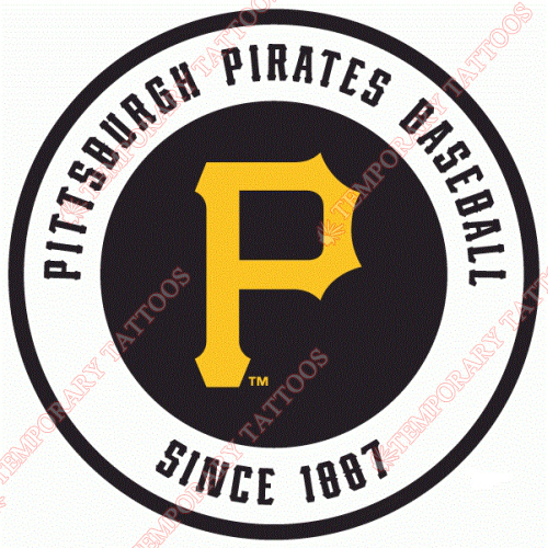 Pittsburgh Pirates Customize Temporary Tattoos Stickers NO.1826