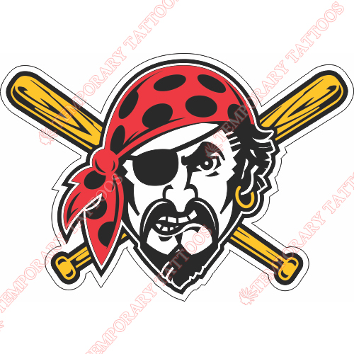 Pittsburgh Pirates Customize Temporary Tattoos Stickers NO.1829
