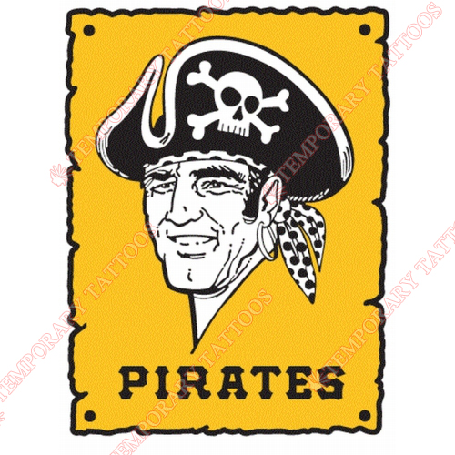 Pittsburgh Pirates Customize Temporary Tattoos Stickers NO.1831