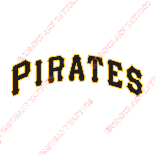 Pittsburgh Pirates Customize Temporary Tattoos Stickers NO.1833