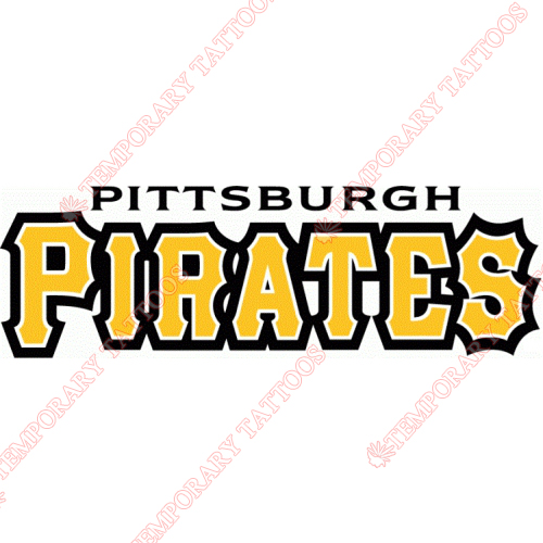 Pittsburgh Pirates Customize Temporary Tattoos Stickers NO.1835