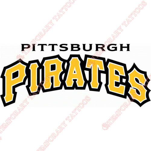 Pittsburgh Pirates Customize Temporary Tattoos Stickers NO.1836