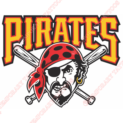 Pittsburgh Pirates Customize Temporary Tattoos Stickers NO.1839