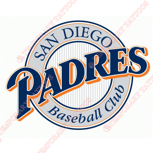 San Diego Padres Customize Temporary Tattoos Stickers NO.1862