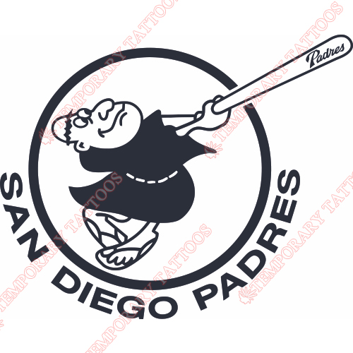 San Diego Padres Customize Temporary Tattoos Stickers NO.1876