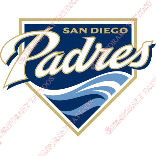 San Diego Padres Customize Temporary Tattoos Stickers NO.1879