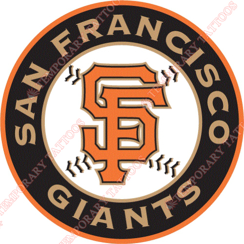 San Francisco Giants Customize Temporary Tattoos Stickers NO.1881