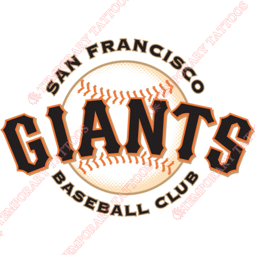 San francisco giants customize temporary tattoos stickers no 1882