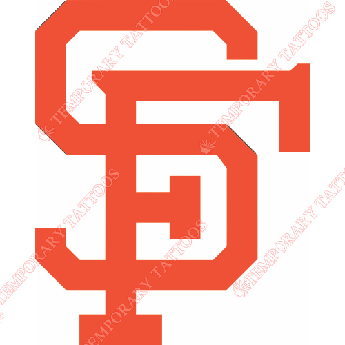 San Francisco Giants Customize Temporary Tattoos Stickers NO.1883