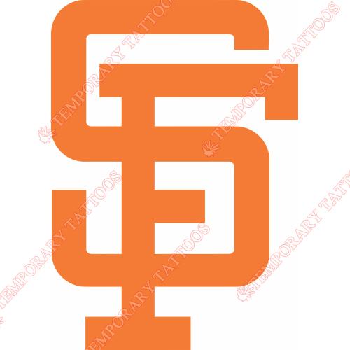 San Francisco Giants Customize Temporary Tattoos Stickers NO.1884