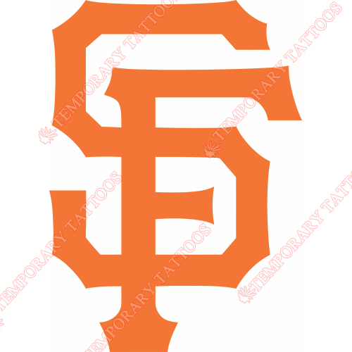 San Francisco Giants Customize Temporary Tattoos Stickers NO.1885