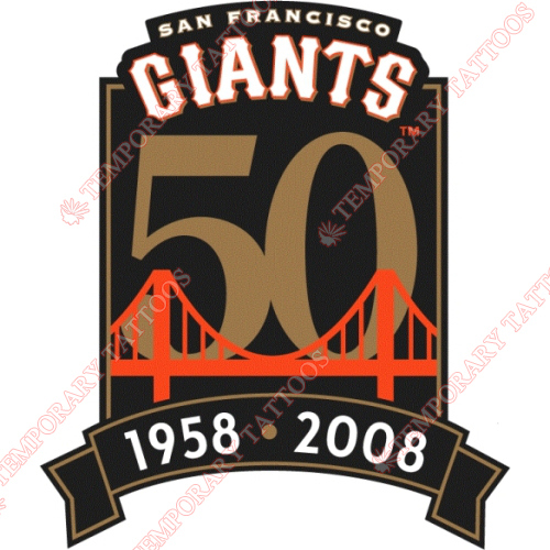 San Francisco Giants Customize Temporary Tattoos Stickers NO.1888