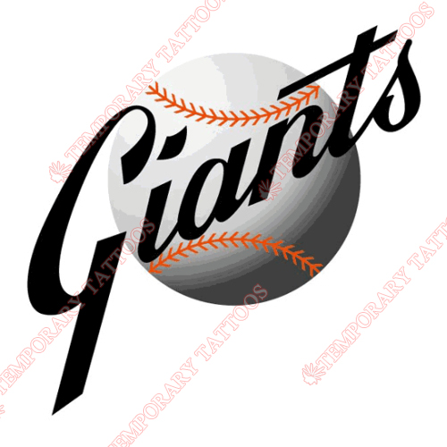 San Francisco Giants Customize Temporary Tattoos Stickers NO.1889