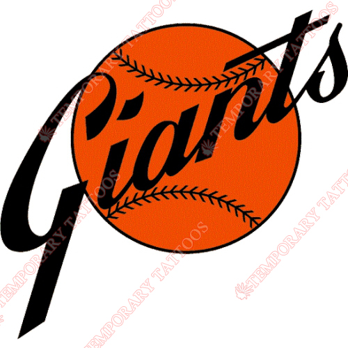 San Francisco Giants Customize Temporary Tattoos Stickers NO.1890