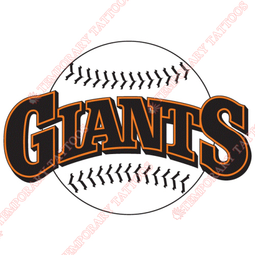 San Francisco Giants Customize Temporary Tattoos Stickers NO.1891