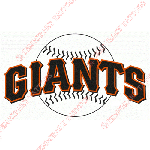 San Francisco Giants Customize Temporary Tattoos Stickers NO.1892