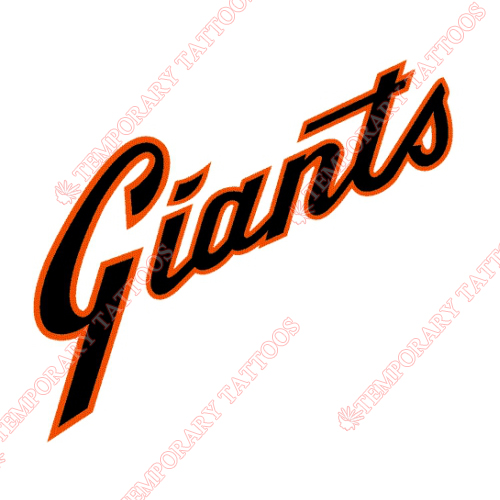 San Francisco Giants Customize Temporary Tattoos Stickers NO.1893