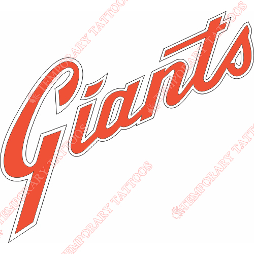 San Francisco Giants Customize Temporary Tattoos Stickers NO.1894