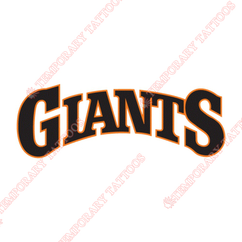 San Francisco Giants Customize Temporary Tattoos Stickers NO.1895