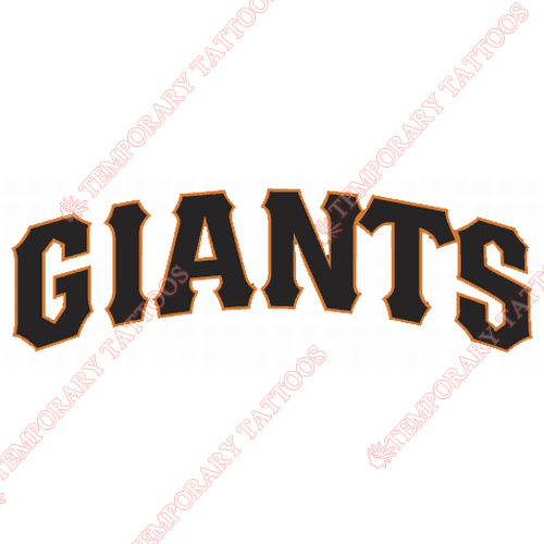 San Francisco Giants Customize Temporary Tattoos Stickers NO.1896