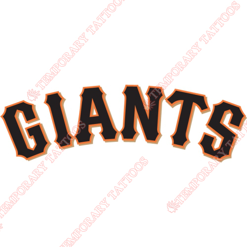 San Francisco Giants Customize Temporary Tattoos Stickers NO.1897
