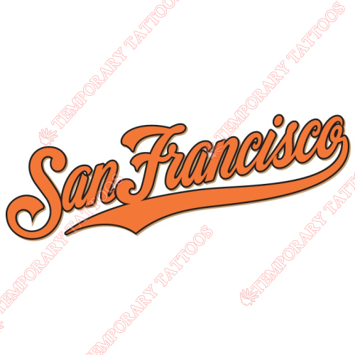 San Francisco Giants Customize Temporary Tattoos Stickers NO.1898