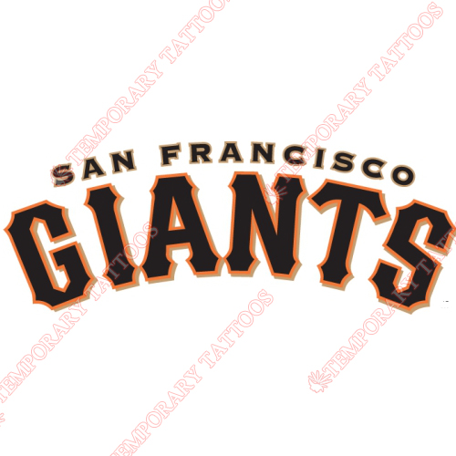 San Francisco Giants Customize Temporary Tattoos Stickers NO.1899