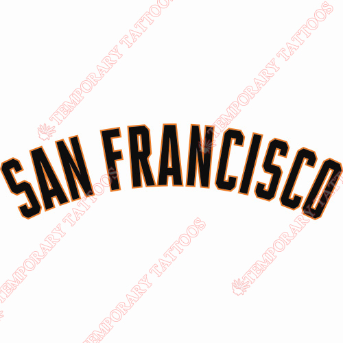 San Francisco Giants Customize Temporary Tattoos Stickers NO.1900
