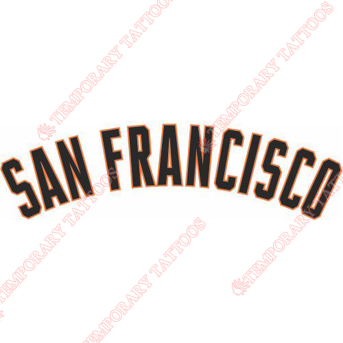 San Francisco Giants Customize Temporary Tattoos Stickers NO.1904