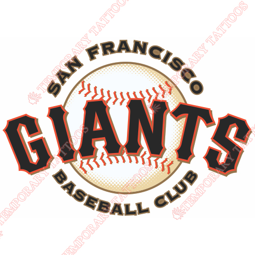 San Francisco Giants Customize Temporary Tattoos Stickers NO.1906
