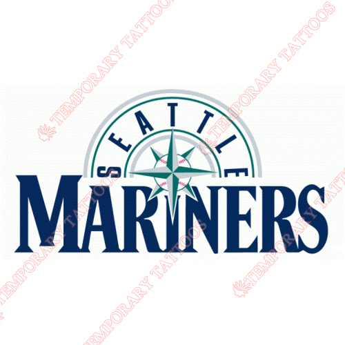 Seattle Mariners Customize Temporary Tattoos Stickers NO.1907