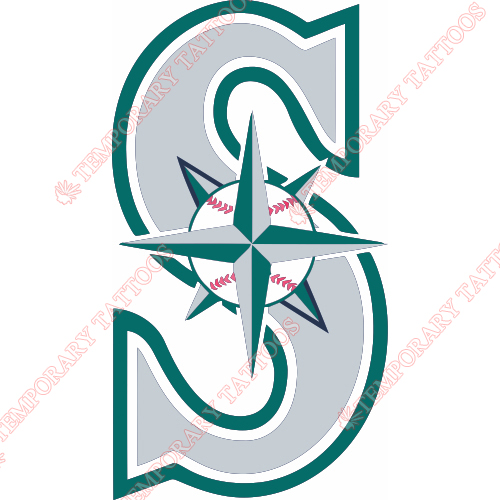 Seattle Mariners Customize Temporary Tattoos Stickers NO.1909