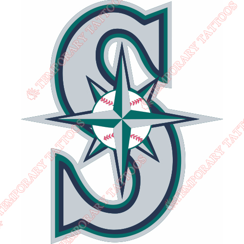 Seattle Mariners Customize Temporary Tattoos Stickers NO.1910