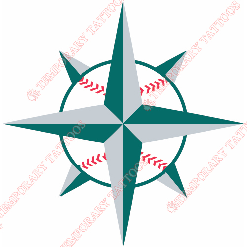 Seattle Mariners Customize Temporary Tattoos Stickers NO.1911
