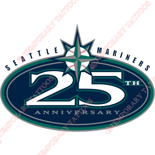 Seattle Mariners Customize Temporary Tattoos Stickers NO.1913