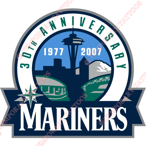 Seattle Mariners Customize Temporary Tattoos Stickers NO.1914