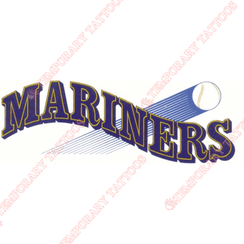 Seattle Mariners Customize Temporary Tattoos Stickers NO.1915