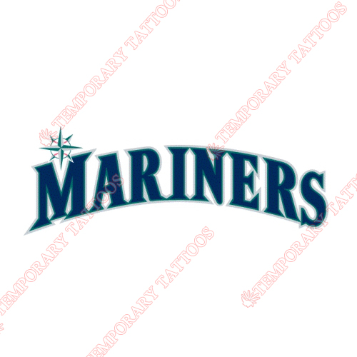 Seattle Mariners Customize Temporary Tattoos Stickers NO.1917