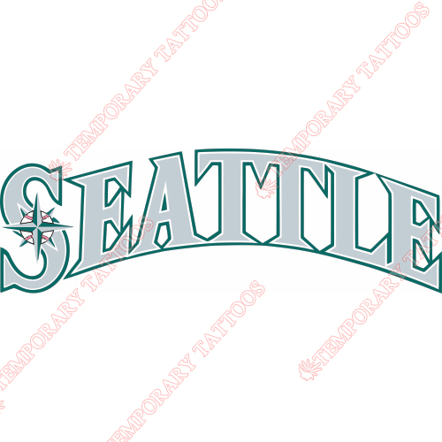 Seattle Mariners Customize Temporary Tattoos Stickers NO.1918