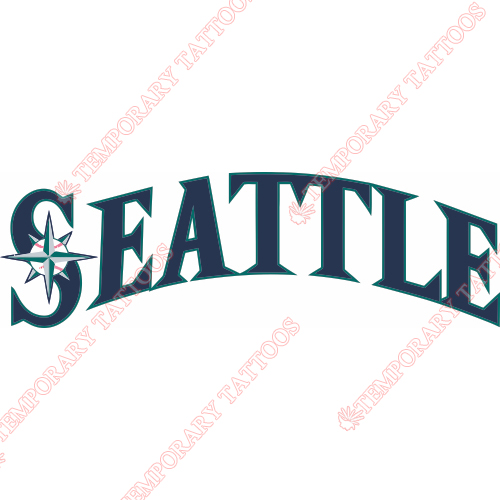 Seattle Mariners Customize Temporary Tattoos Stickers NO.1919