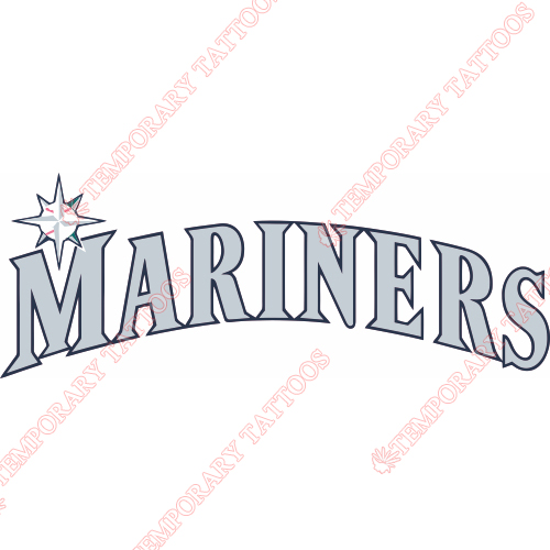 Seattle Mariners Customize Temporary Tattoos Stickers NO.1920