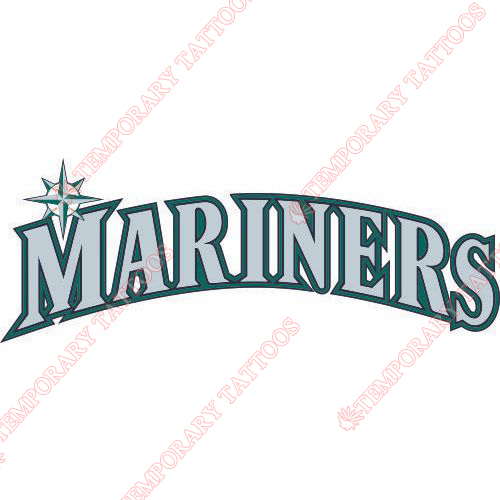 Seattle Mariners Customize Temporary Tattoos Stickers NO.1921
