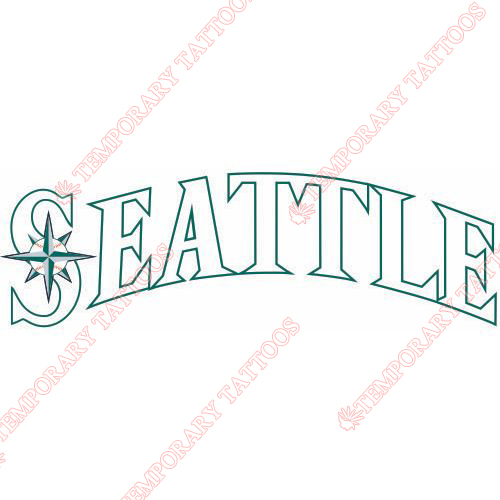 Seattle Mariners Customize Temporary Tattoos Stickers NO.1922