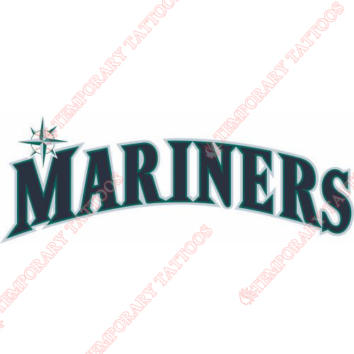 Seattle Mariners Customize Temporary Tattoos Stickers NO.1923