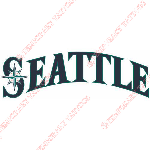 Seattle Mariners Customize Temporary Tattoos Stickers NO.1924